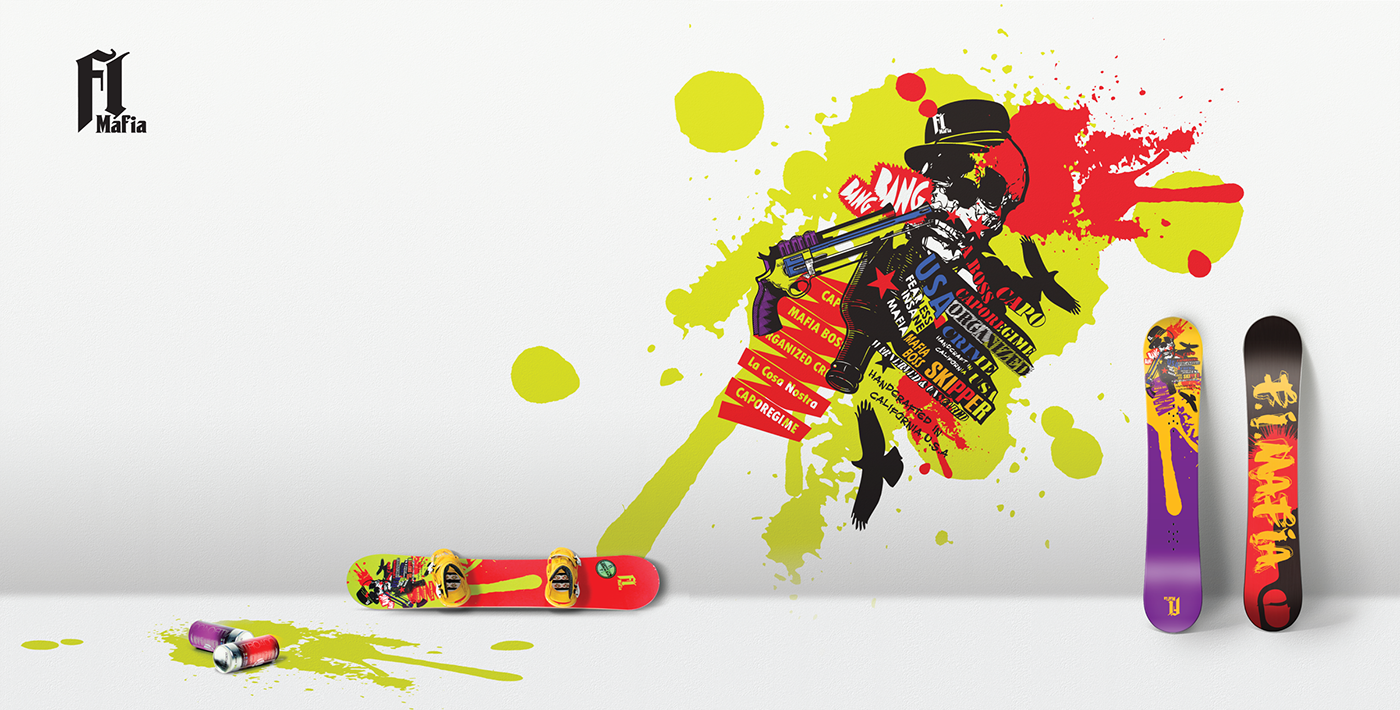 Snowboard Graphic Design