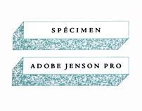 Adobe Jenson Pro Specimen