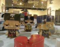 MY PAPER TOYS 1st Show  2011 (in mogurige team exhibit)