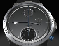 Lunar chronograph automatic watch