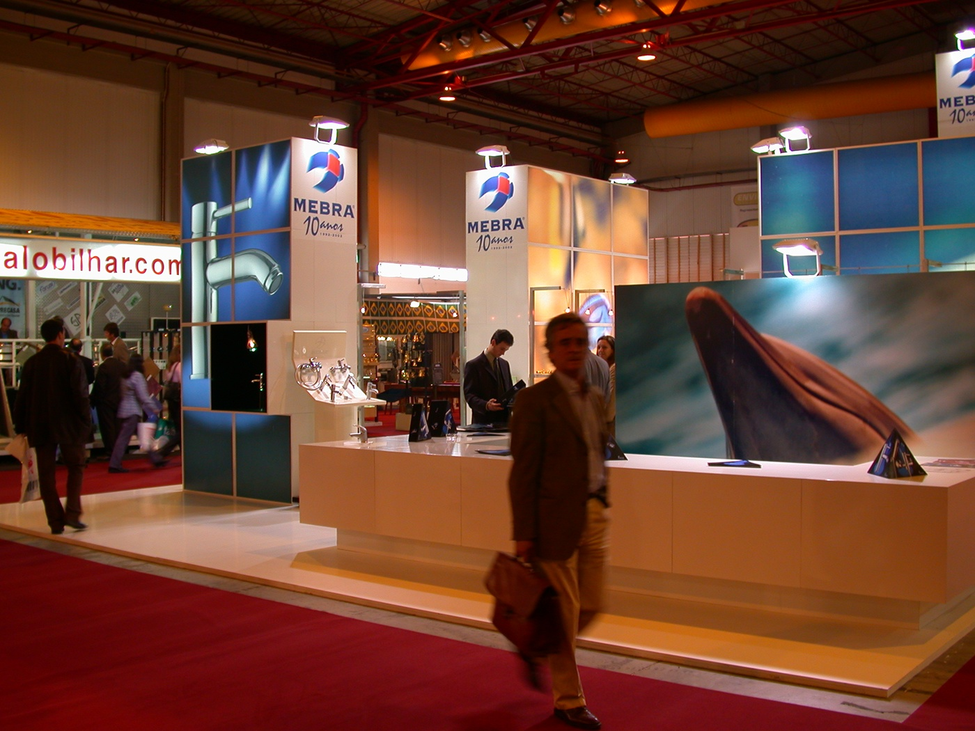 mebra exhibition booth