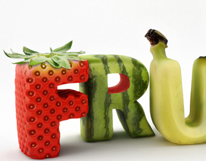 FRUITY 3D Typography