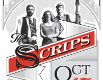 Concert Poster for The Scrips