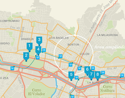 Map of Medellin