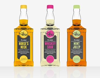 Skee American Whiskey Cocktails Branding / Packaging