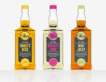Skee American Whiskey Cocktails Branding / Packaging