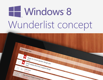 Wunderlist Concept for Windows 8