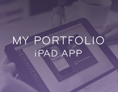 My portfolio app for iPad