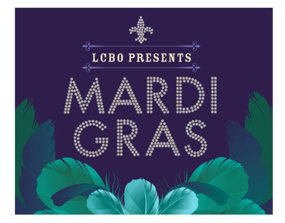LCBO MARDI GRAS IN STORE COCKTAIL CAMPAIGN