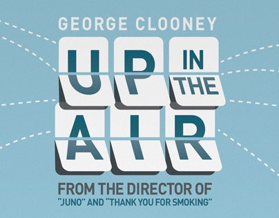 Up in the Air Rebrand: Poster, Motion Title, and DVD