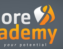 Moore Academy Corporate ID, Webdesign and styling