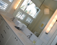 WHITE CHIC BATHROOM REMODEL  before and after