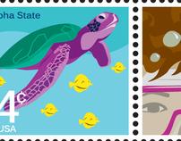 Hawaiian-Themed Stamps