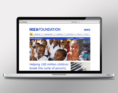 Ikea Foundation Re-Design of their website
