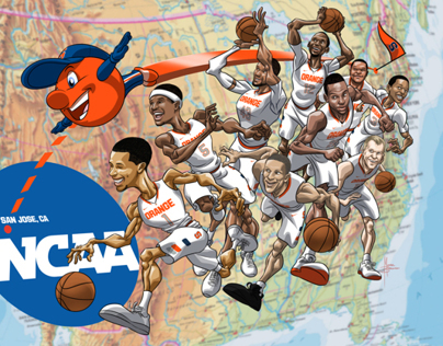Syracuse Basketball Art