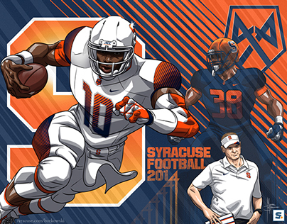 Syracuse Football Art