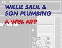 Willie Saul & Son Plumbing – A Web App