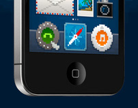 iPhone pixel icons