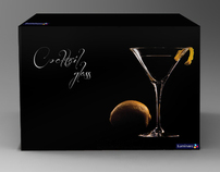 Packaging design for cocktail glasses