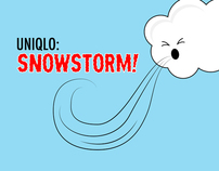 UNIQLO Snowstorm // iPad app + gaming concept