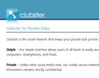 Clubster.com for Aycron IT Solutions (2011)