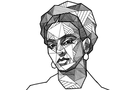 geometric portraits ink on behance