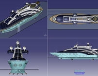 SeasSoul 78m Yacht Exterior in CAD Catia 5