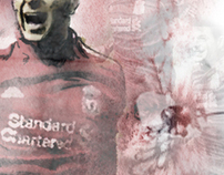 Steven Gerrard Liverpool Illustration