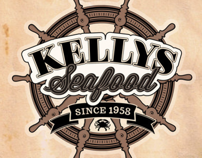 Kelly's Seafood Menu Cover / Logo