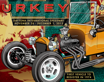 Daytona Turkey Run event art (2002-2013)