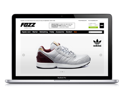 FOZZ. E-commerce website