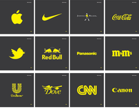 Famous Logos In CMYK Yellow