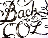 Back To Oz - ink lettering