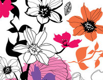Surface design florals - La Primavera