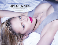 April/May / BlackBook / Jaime King / Lips Of A King