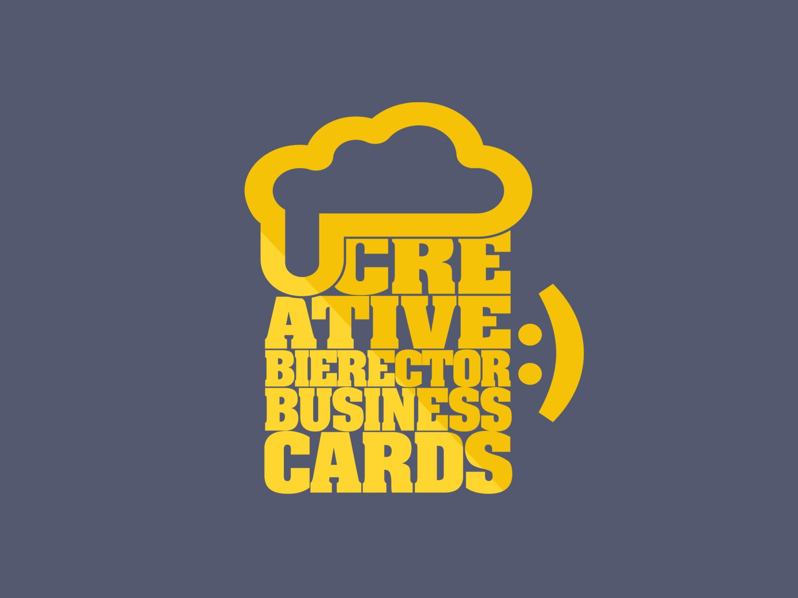 Creative Bierector Business Cards