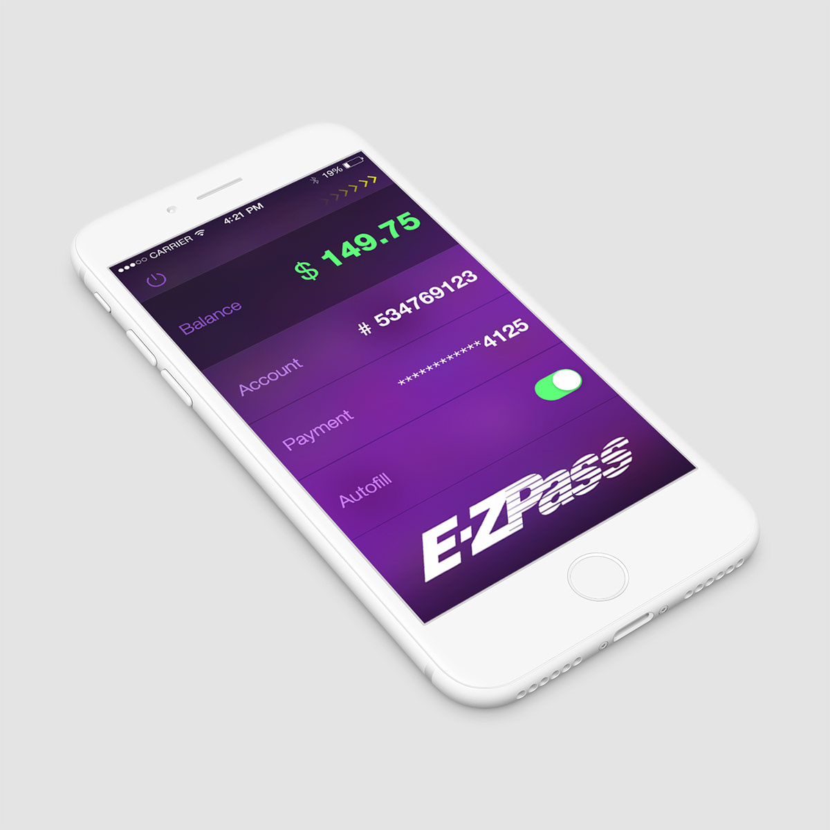 E-ZPass iOS 7 Remix