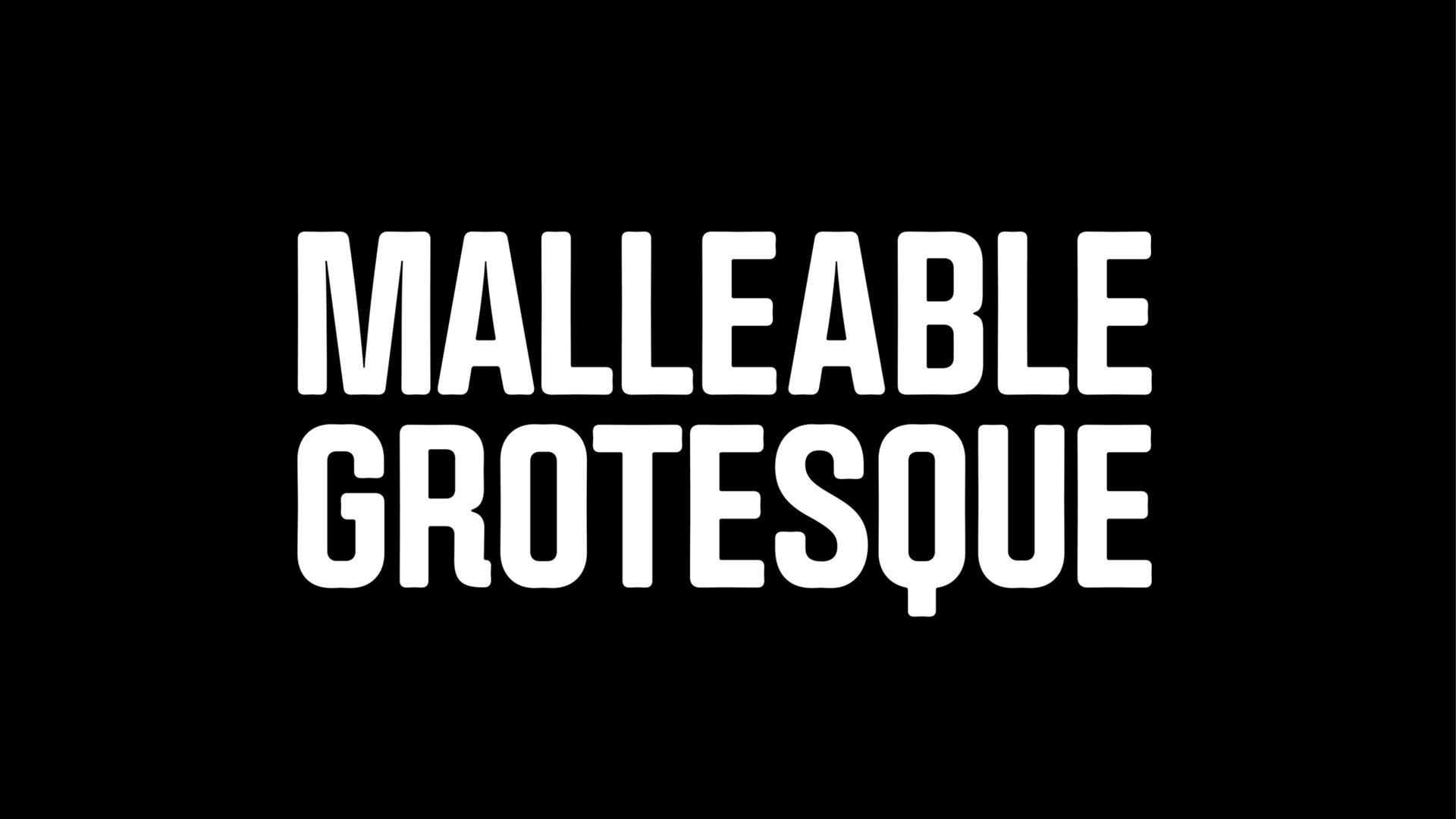 Malleable Grotesque - Font Family
