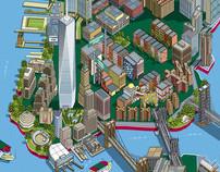 Circle Line 101 New York Sights Illustrated Map