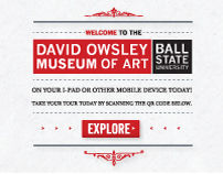 David Owsley Museum of Art Mobile Web Application