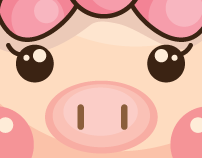 The 9 cute pigs.