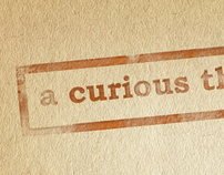 a curious thing - Logo and website design