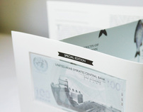 Currency design with presentation pack