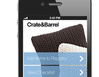 Crate & Barrel Gift Registry iPhone App