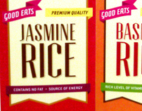 GOOD EATS rice packaging design