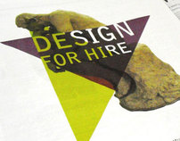 Design For Hire - Fundraising Advert