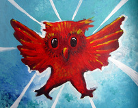 New Acrylics: Animals and Whimsy= whanimals