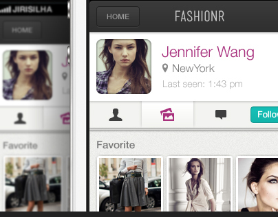 iPhone UI Design – Fashionr