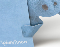 Little blue bear Invitation