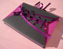 Purple Ribbon Handmade Notebook